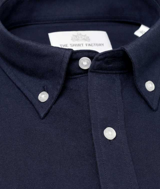 Shirt Hampton Oxford Navy The Shirt Factory