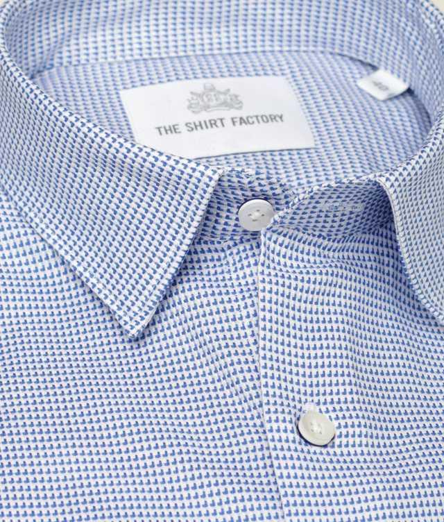 Shirt Westlake Blå The Shirt Factory
