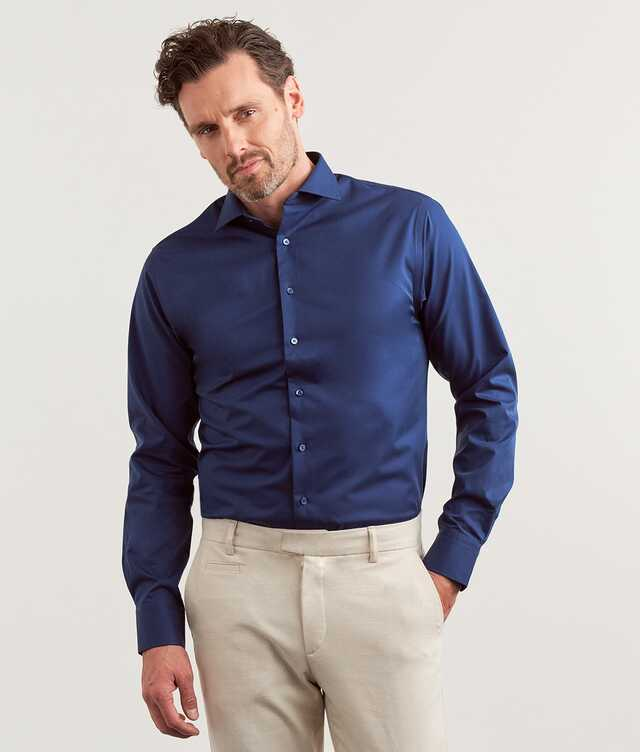 Shirt Twill Non-Iron Dark blue The Shirt Factory