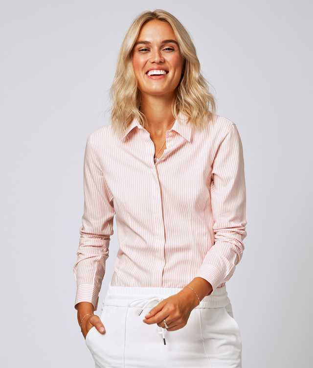Skjorta Emma Stripe Rosa  The Shirt Factory