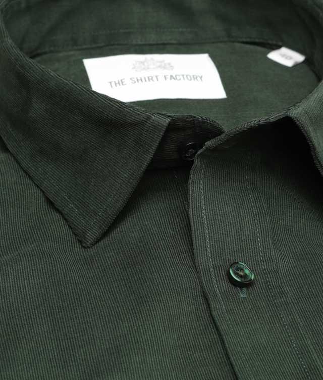 Shirt Toronto Cord Grön The Shirt Factory